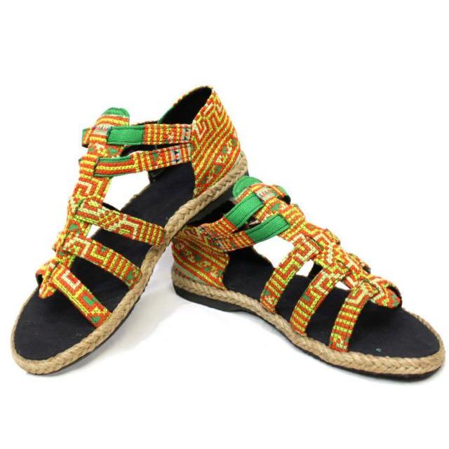 民族風圖騰涼鞋