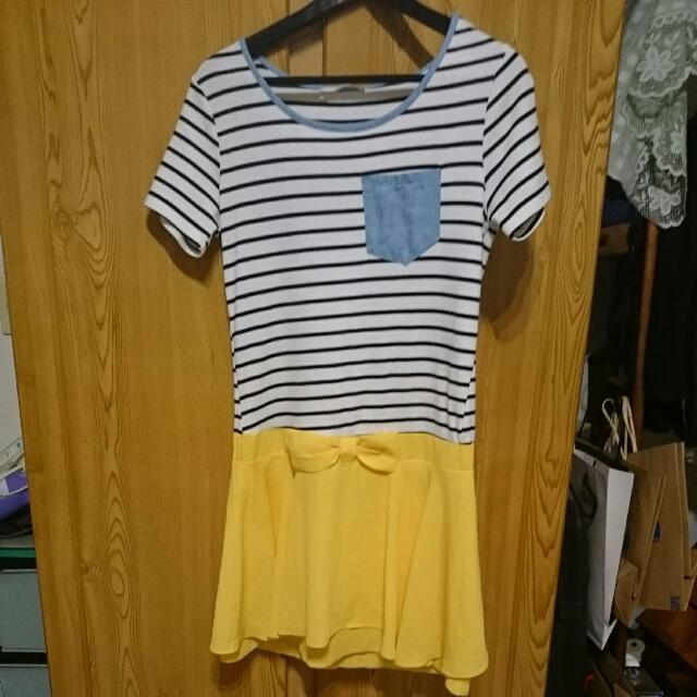 九成新 連身洋裝