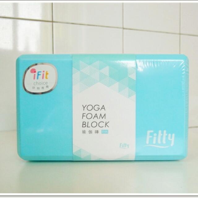 全新 瑜珈磚 藍色