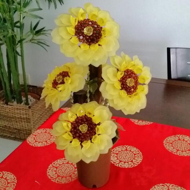 Artificial Sunflower Plant.