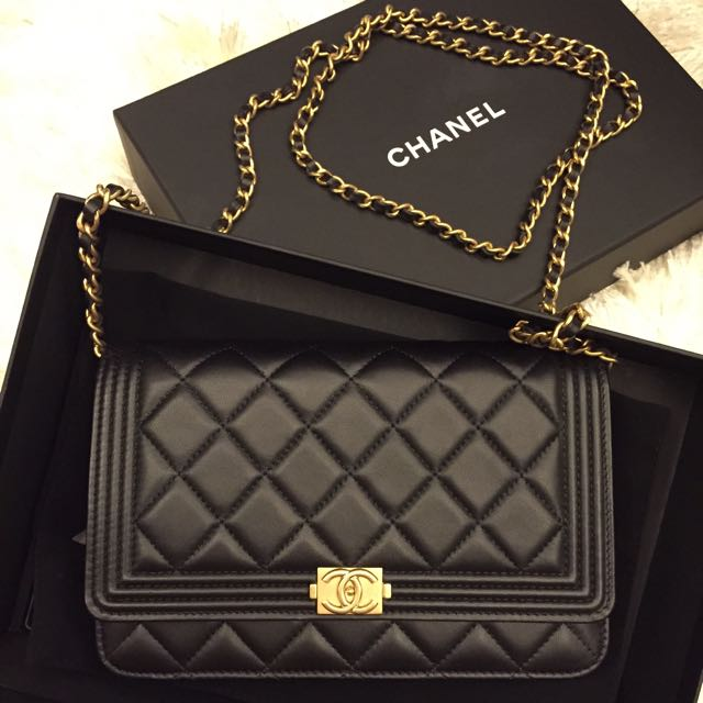 0d7a808ab534b8 Authentic Chanel Boy Woc (lambskin), Luxury on Carousell