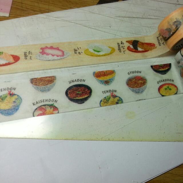 Maste 紙膠帶-壽司&丼飯