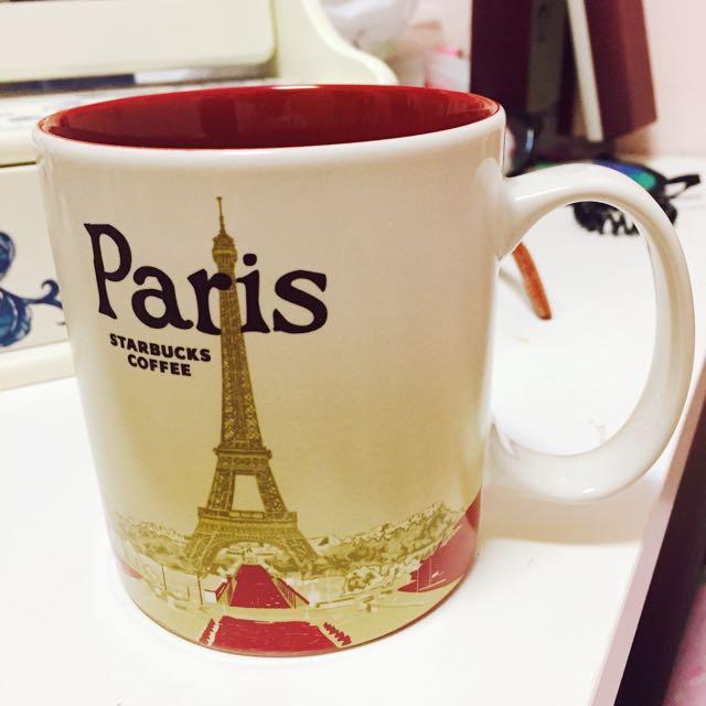 Starbucks 星巴克 法國巴黎Paris城市馬克杯