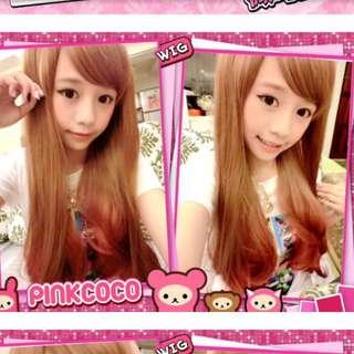 Pinkcoco 髮尾漸層耐熱長假髮