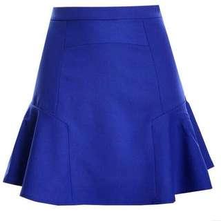夏季款  OL百搭藍裙