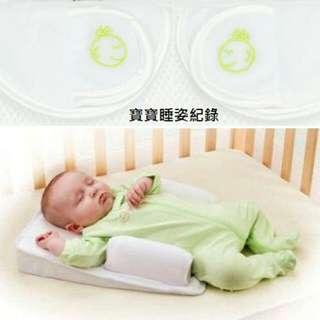 寶寶安全睡枕 防吐奶\睡墊\床中床 定型枕防翻身0-4個月