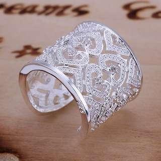 Luxurious Rhinestone Women's Cuff Ring