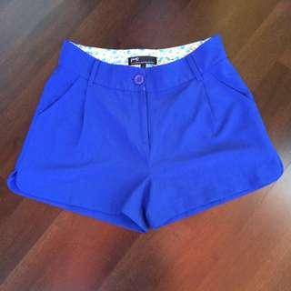 Pazzo 知性藍打褶短褲