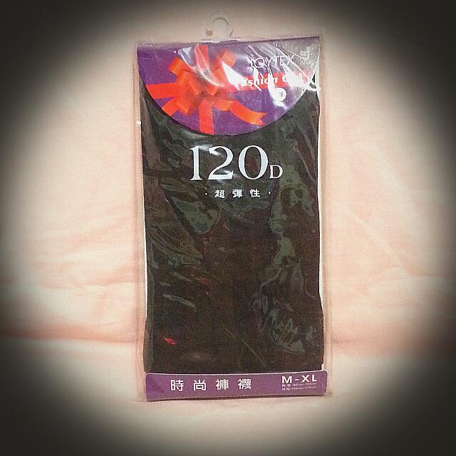 全新--方格紋120丹褲襪