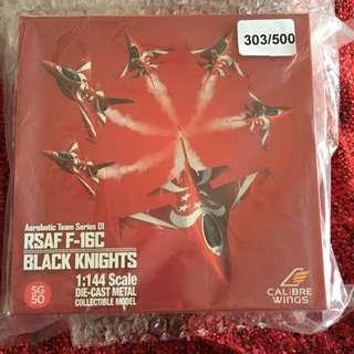 RSAF F16C BLACK KNIGHTS MODEL