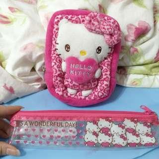 💯🇯🇵限量豹紋Hello Kitty 化妝包(萬用包)