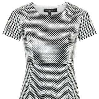 Topshop Petite Exclusive Jacquard Overlay Dress
