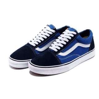【9.9成新】VANS 帆布鞋 / 滑板鞋 基本款 藍 US7.5 (25.5cm)