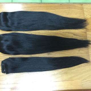二手 真髮髮片4+4+3