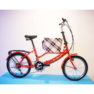 JY (平價版) 20吋 21速 SHIMANO (小籃) 寵物腳踏車 (紅色) 拆掉籃子基座變淑女車 寵物籃 另可當親子車(價格另計)