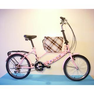 JY (平價版) 20吋 21速 SHIMANO (小籃) 寵物腳踏車 (粉紅色) 拆掉籃子基座變淑女車 寵物籃 另可當親子車(價格另計)