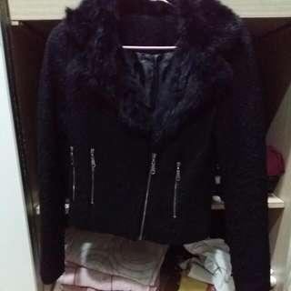 🚚 (免運)毛領短版外套