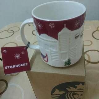 星巴克聖誕限量紅色台灣城市浮雕馬克杯