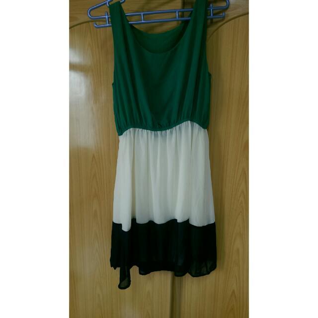 (全新)雪紡質感洋裝