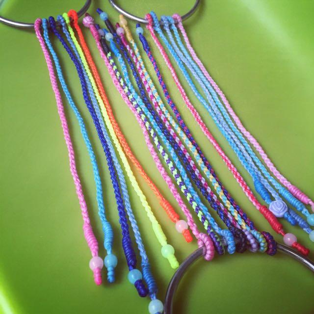 簡單素面蠶絲蠟繩手環