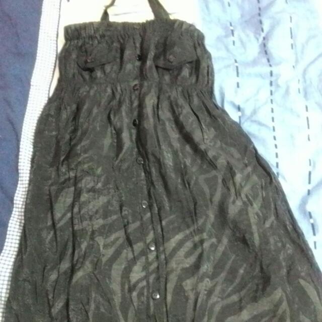 平口雪紡小洋裝