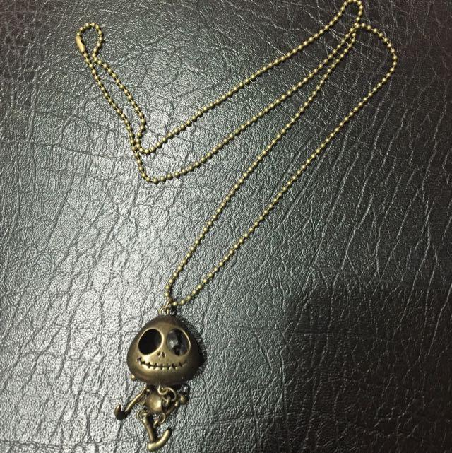 韓國全新骷顱頭項鍊