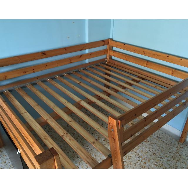 Ikea Queen Size Loft Bed Stora Original Pine Wood