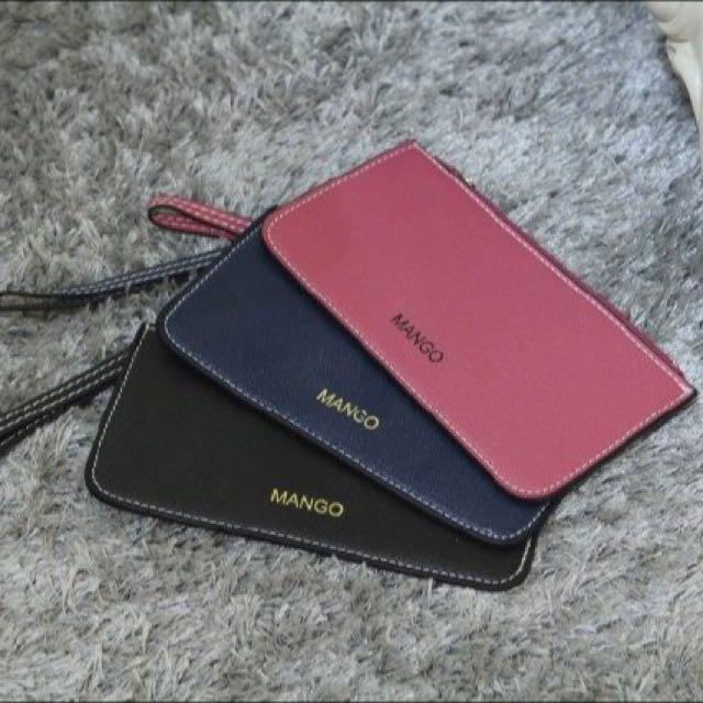 現貨💕MANGO MNG新款十字紋信封式薄型長款錢包 手拿包 手機包 零錢包 收納包(3色可選)