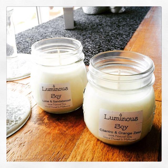Medium Mason Jar Soy Candles