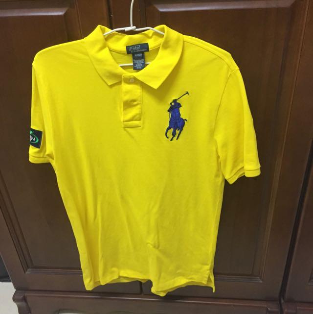 Polo大馬黃色短袖(僅穿過一次)美國購入 170以上穿較剛好哦