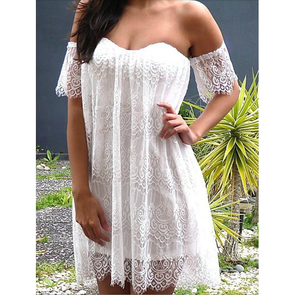 Sexy White Laced Women's Dress