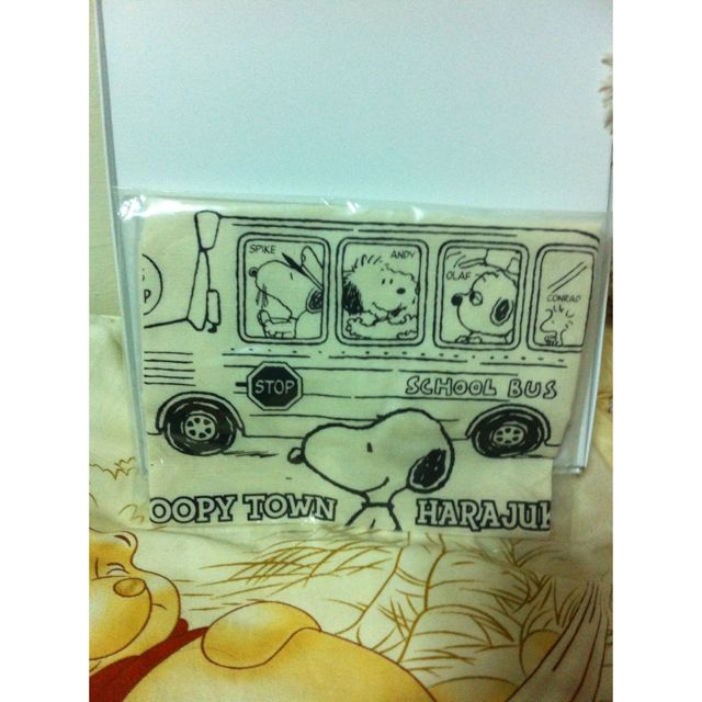 Snoopy手帕(日本購入全新)