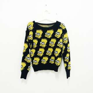 Bart Simpson Knitted Sweater