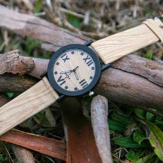Unisex Wood Base Watch