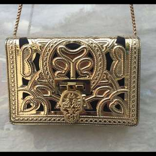 Gold Intricate Design Crossbody Bag