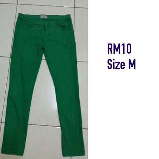 green color jeans