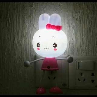兔兔感光夜燈