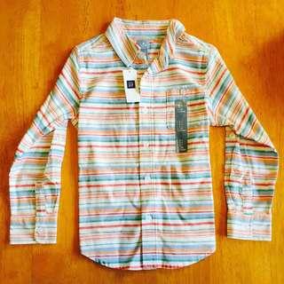 Gap 中童 亞麻襯衫 長袖襯衫 全新 條文衫 🇺🇸美國