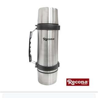 日本Recona不銹鋼真空雙蓋保溫瓶