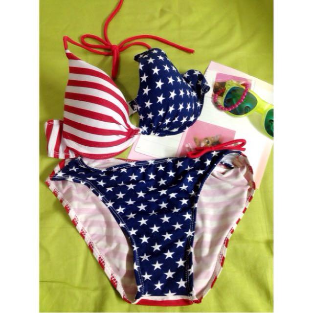 (免運)美國風比基尼 泳裝👙