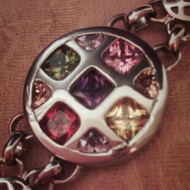 【全新】彩鑽錶帶造型鋼鍊