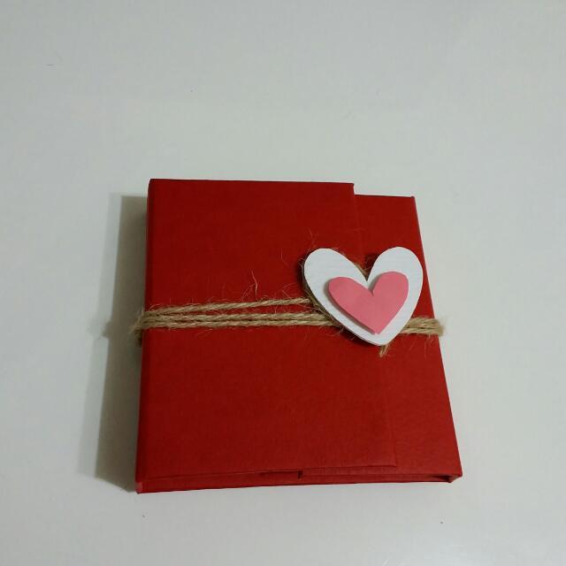 手作卡片/立體小書(無夾層款)~情人節/生日都適用哦