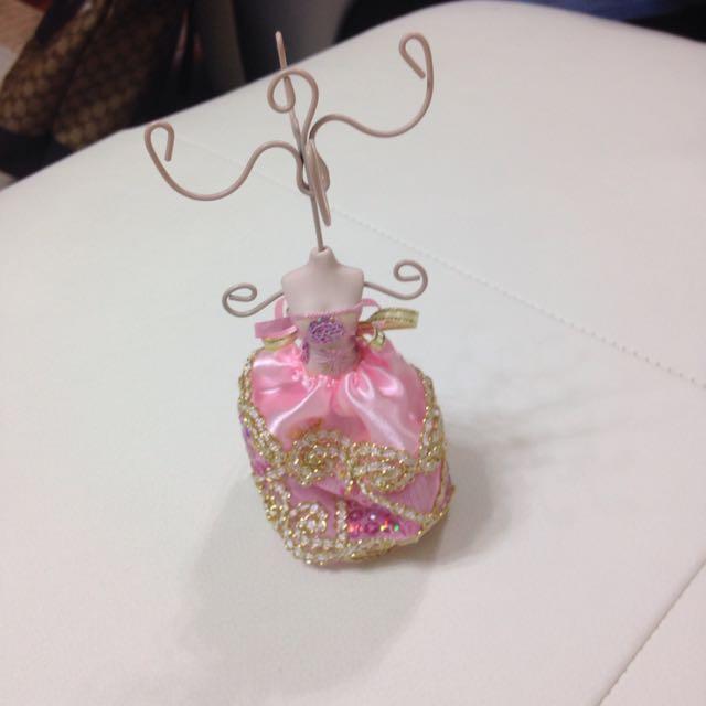 婚紗造型小掛架 可掛戒指
