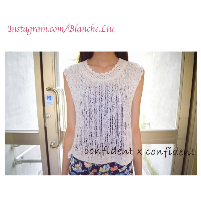 【F 免運】夏末初秋必備 韓風 無袖針織上衣 氣質簡約 牛奶白色