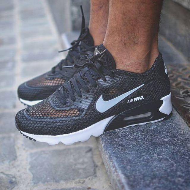 超特殊鞋款✨ 賣場首發 Nike Air Max 90 Ultra BR Plus QS 黑色百搭✔️ 特殊網眼材質