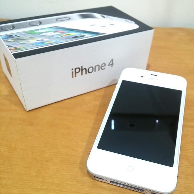 二手*iPhone4 8G 白色(含原廠充電器、盒子)