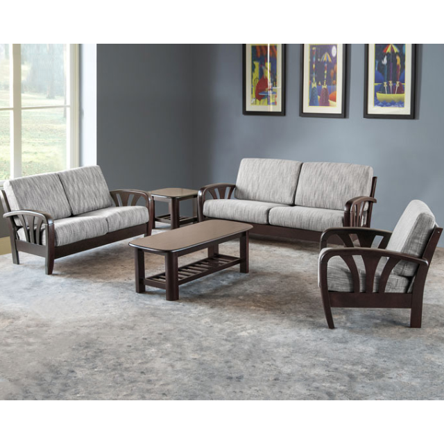 Dn Wooden Sofa Set With Cushions With Free Delivery