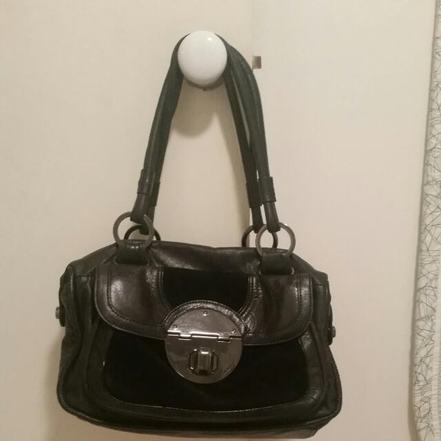 Handbag - Mimco Class Black Leather