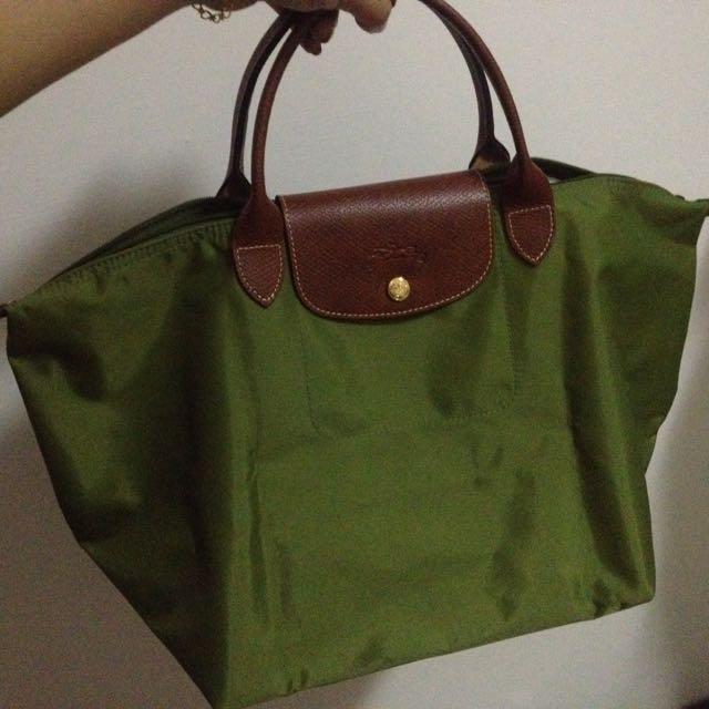 Longchamp 🚩九成新短把中型提包