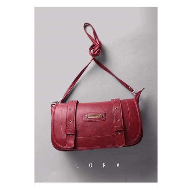 Mini Satchel Warna Merah